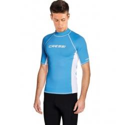 image: Rash Guard Adult manches courtes bleu homme Cressi