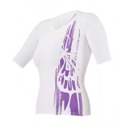 image: Rash Guard Purple Mermaid femme MC Blanc/Mauve Scubapro